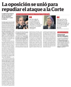 Fayt bloques. Clarin